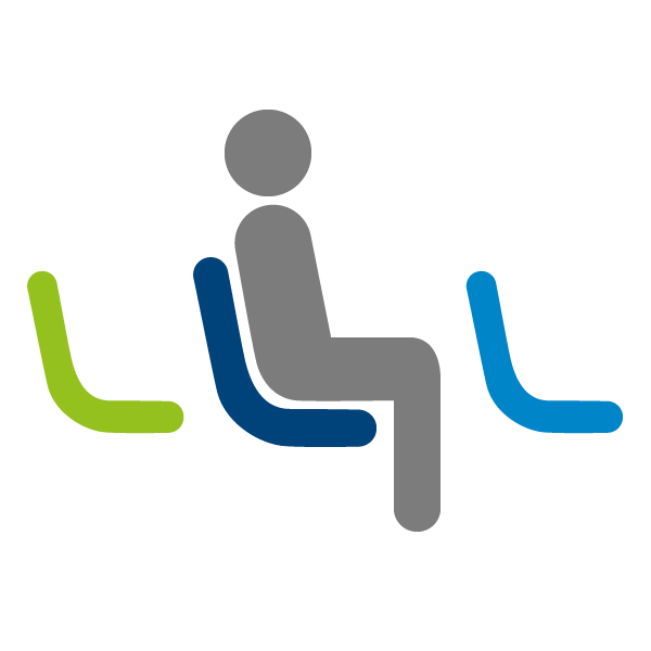 Passenger sitting icon