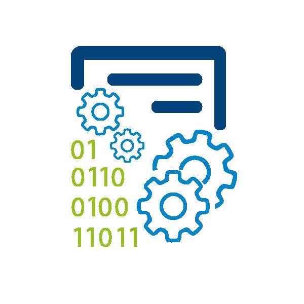 Calculator, sheet and data icon
