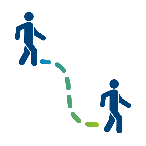 People walking - parcours usagers icon