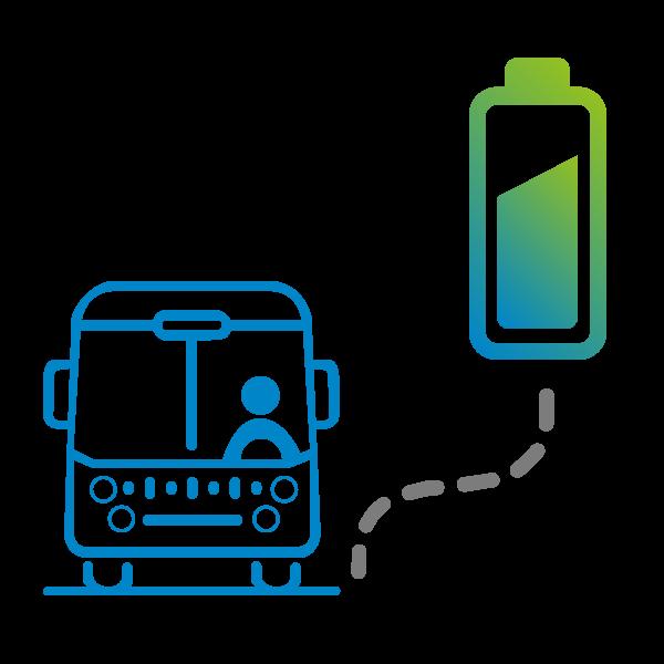 icone batterie et autobus - Optimisateur énergétique